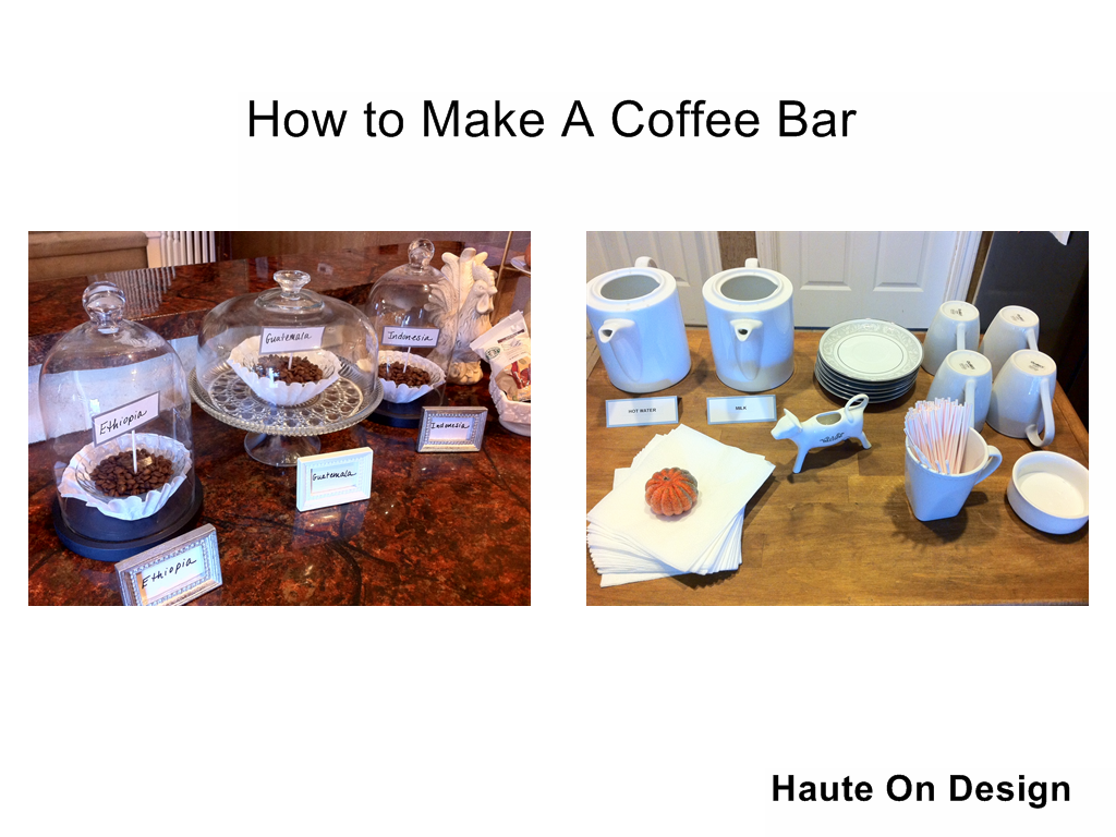 Fall decorating and entertaining series how to make an at for How to build a coffee bar
