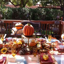 fall outdoor tablescape fullview
