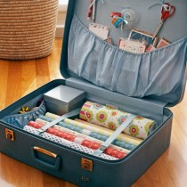 suitcase wrapping storage