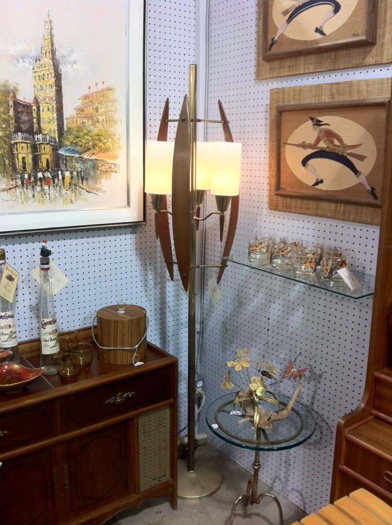 antique midcentury lamp
