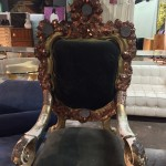 Unique Accent Chairs.  This chair is decorated with real coin pennies