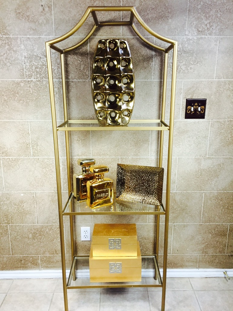 etagere gold